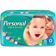 Fralda Personal Soft e Protect Tamanho G 48 Unidades Peso Indicado 8 - 12,5kg