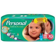 Fralda Personal Soft e Protect Tamanho XG Mega 42 Unidades Peso Indicado +12kg