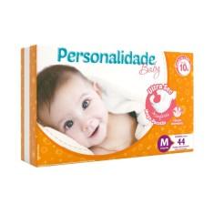 Fralda Personalidade Baby Ultra Sec Tamanho M Mega Pacotão 44 Unidades Peso Indicado 4 - 8Kg