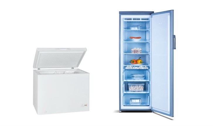 Freezer horizontal ou freezer vertical
