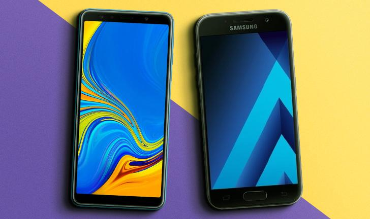 Galaxy A7 2018 vs Galaxy A7 2017: o que muda na ficha técnica dos celulares?