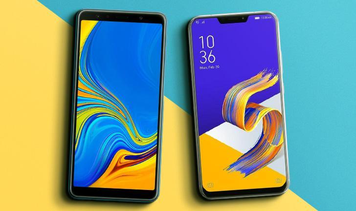 Galaxy A7 2018 vs Zenfone 5: compare a ficha técnica dos celulares