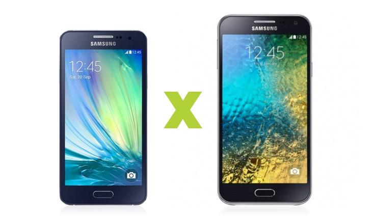 Galaxy E5 vs Galaxy A3: escolha o seu celular intermediário
