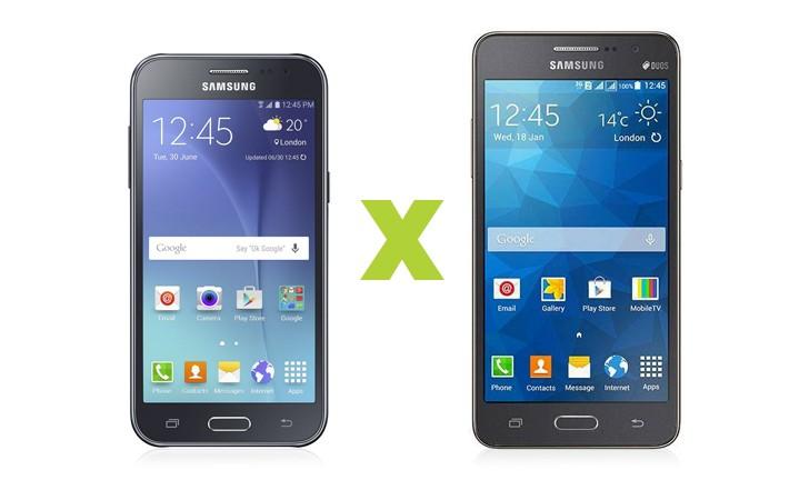 Galaxy J2 ou Galaxy Gran Prime Duos? Uma disputa entre smartphones com preço atrativo
