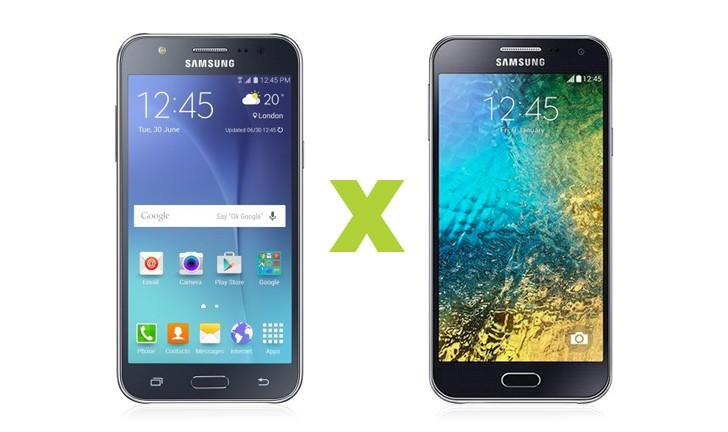 Galaxy J5 ou Galaxy E5: qual smartphone Samsung é o melhor?