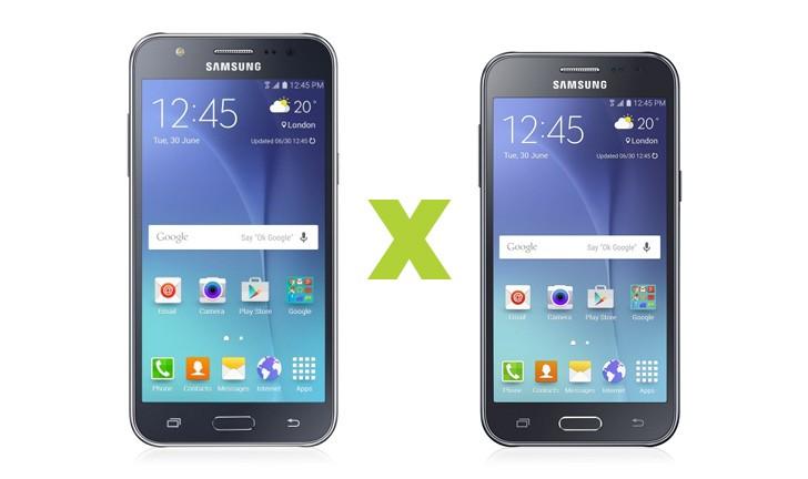 Galaxy J5 vs Galaxy J2: disputa entre smartphones Samsung