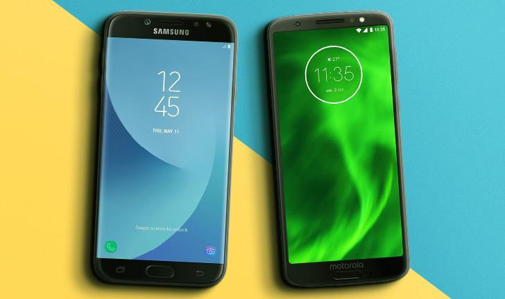 Galaxy J7 Pro vs Moto G6: um embate entre os intermediários