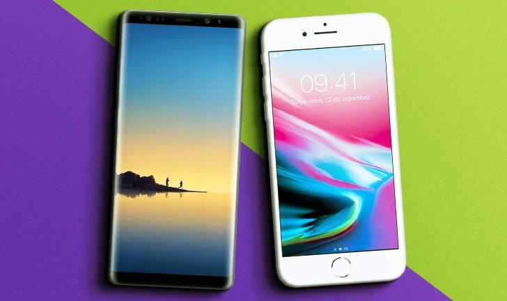 Galaxy Note 8 vs iPhone 8 Plus: qual o melhor smartphone top de linha?