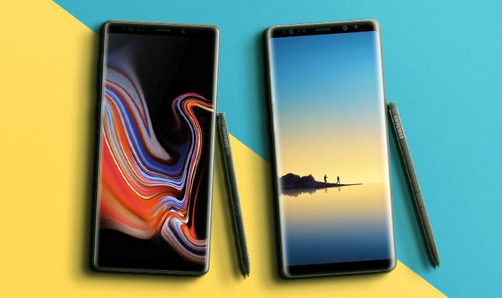 Galaxy Note 9 vs Galaxy Note 8: veja quais são as diferenças