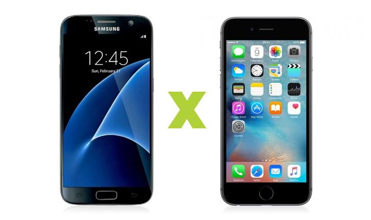 Galaxy S7 vs iPhone 6S: qual top de linha é melhor?