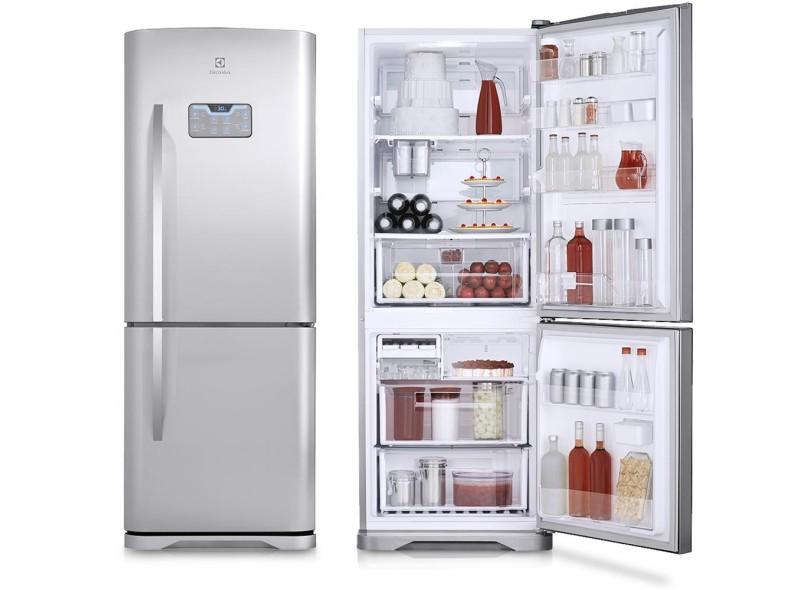 451726852 Geladeira Electrolux Bottom Freezer 454 Litros DB52X Inox