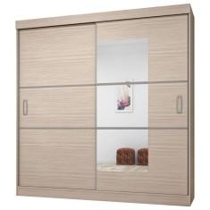 Guarda-Roupa Casal 2 Portas 4 Gavetas com Espelho Atraente 2040 Araplac
