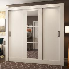 Guarda-Roupa Casal 3 Portas 2 Gavetas com Espelho Amanda Plus Panorama Móveis