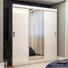 Guarda-Roupa Casal 3 Portas 3 Gavetas com Espelho Emily Plus Panorama Móveis