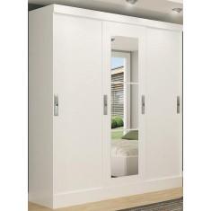 Guarda-Roupas Casal 3 Portas Gavetas com Espelho Viena 4220