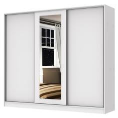 Guarda-Roupa Casal 3 Portas 4 Gavetas com Espelho Eros Madesa
