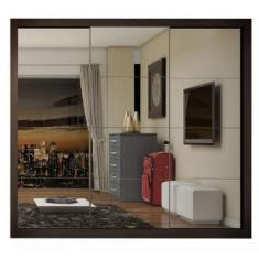Guarda-Roupa Casal 3 Portas 4 Gavetas com Espelho Flórida Espresso Moveis