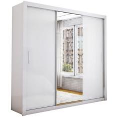 Guarda-Roupa Casal 3 Portas 4 Gavetas com Espelho Isabela Carioca Móveis