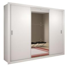Guarda-Roupa Casal 3 Portas 4 Gavetas com Espelho Luna Rufato