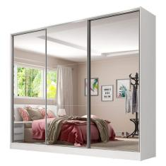 Guarda-Roupa Casal 3 Portas 4 Gavetas com Espelho Royale 3E Madesa
