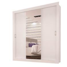 Guarda-Roupa Casal 3 Portas com Espelho Smart Siena Móveis