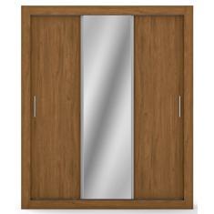 Guarda-Roupa Solteiro 3 Portas com Espelho City Bartira
