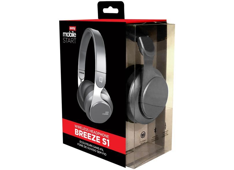 205f878ba Headphone com Microfone Bluetooth Easy Mobile Breeze S1