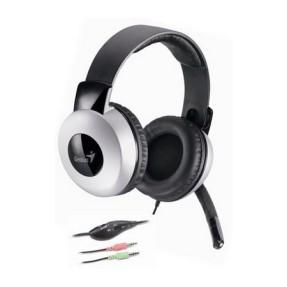 Headset com Microfone Genius HS-05A Cabo Retrátil