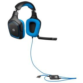 Headset com Microfone Logitech Gaming G430