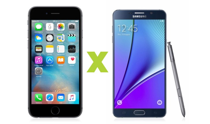 iPhone 6s Plus ou Galaxy Note 5