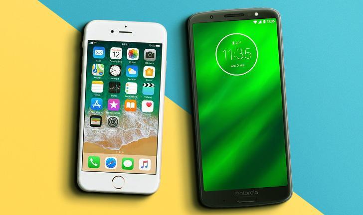 24159dd5609 iPhone 6S vs Moto G6 Plus: vale a pena comprar um iPhone antigo ou um  Motorola novo?