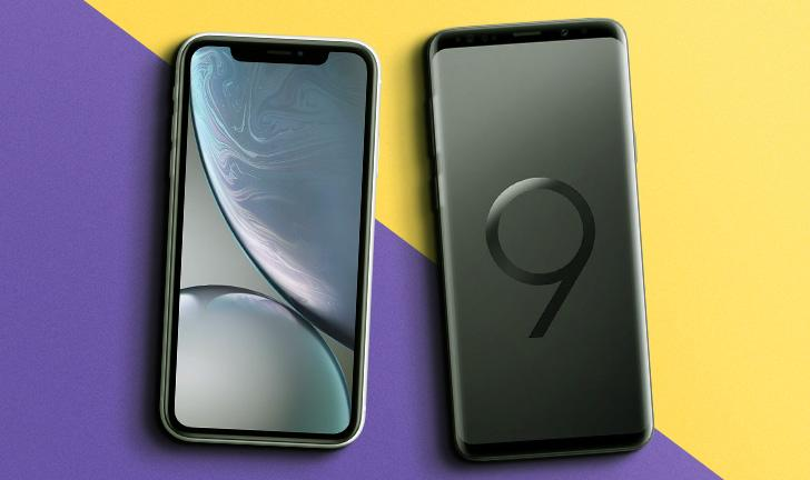 iPhone XR vs Galaxy S9 Plus
