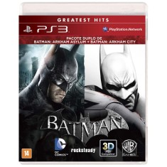 Foto Jogo Combo Batman Arkham Asylum & City PlayStation 3 Warner Bros