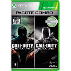 Foto Jogo Combo Call of Duty Black Ops e Black Ops II Xbox 360 Activision