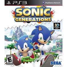 Foto Jogo Sonic Generations PlayStation 3 Sega
