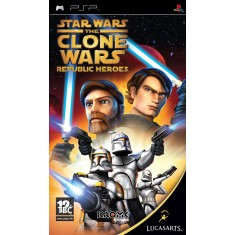 Foto Jogo Star Wars The Clone Wars Republic Heroes LucasArts PlayStation Portátil