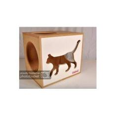Kit Nicho Gatos + 02 Prat Arranhador - Mdf Cru - Fte Branca - Walk Cat - cj 3 pc