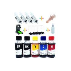 Kit Recarga Cartuchos Hp 500ml 662 122 901 74 60 664 61 75 21 27 56 57 22 28 74 Tinta Corante
