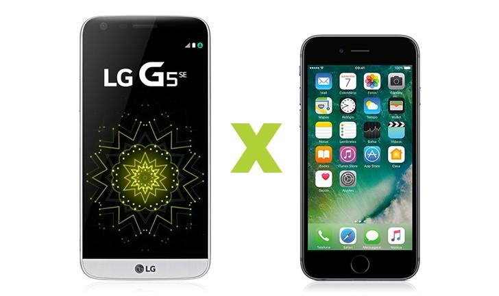 LG G5 SE vs iPhone 6S: qual o melhor investimento?