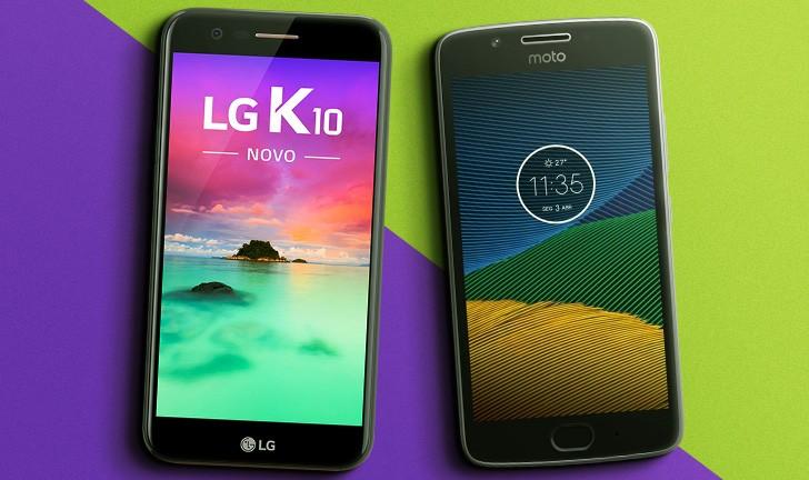 LG K10 2017 vs Moto G5: veja a comparação entre smartphones com bom custo/benefício