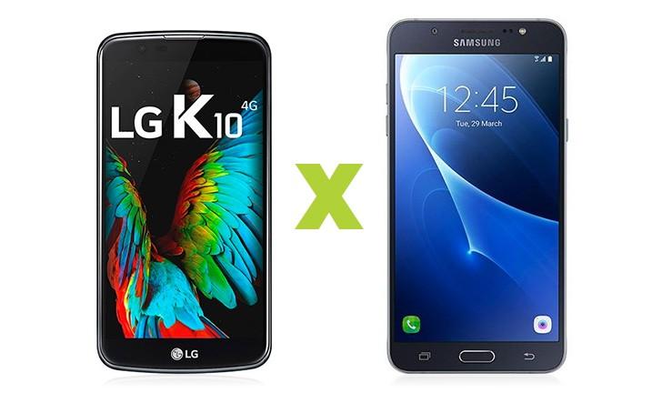 LG K10 vs Galaxy J7 2016: confira as diferenças