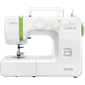 Máquina de Costura Doméstica Overloque Ziguezague Ponto Invisível Trendy JX-3013 - Elgin