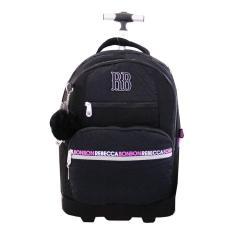 Mochila com Rodinhas Clio Style Rebecca Bonbon com Compartimento para Notebook