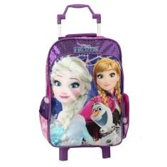 ab56d5176 Mochila com Rodinhas Escolar Dermiwil Disney Frozen Cetro Luminoso G 30198