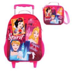 Mochila com Rodinhas Escolar Dermiwil Easy Princesas Spirit