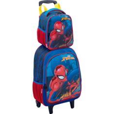 Mochila com Rodinhas Escolar Sestini 3D Spider Man