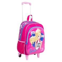 Mochila com Rodinhas Escolar Sestini Barbie 17X G 64749