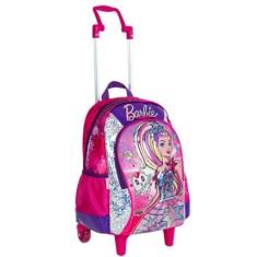 Mochila com Rodinhas Escolar Sestini Barbie Aventura Nas Estrelas 64735