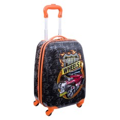 Mochila com Rodinhas Escolar Sestini Hot Wheels 16PC 360°