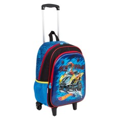Mochila com Rodinhas Escolar Sestini Hot Wheels Hot Wheels 17X G 64757